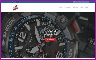 G-SHOCK WATCHES Website Earn £49.20 A SALE|FREE Domain|FREE Hosting|FREE Traffic