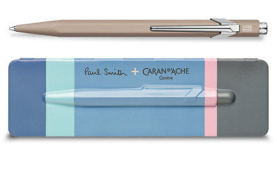 Caran d'Ache 849 PAUL SMITH Taupe Ballpoint Pen 849.503, with holder