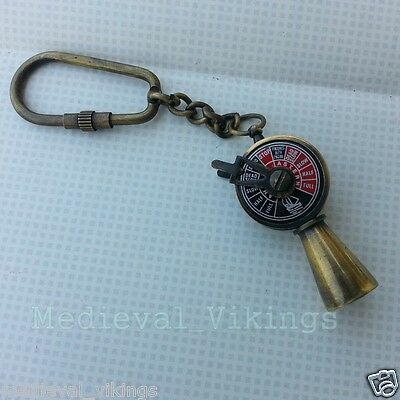 Brass Telegraph Key chain Nautical Key ring Vintage Style Decorative Collectible