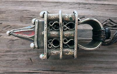(B) Antique Large Berber Temple Hair Ornament Ring Perfume Morocco