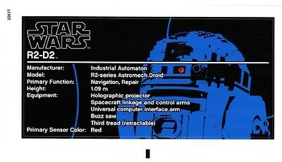 Replacement Sticker Label Sheet Lego Star Wars 10225 Ucs R2-D2