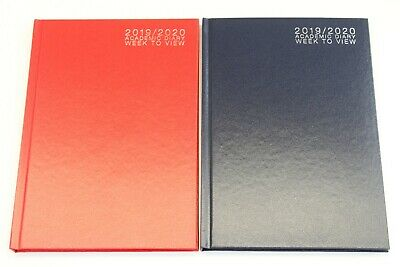 2019 - 2020 A5 Or A4 'week To View' Academic 12 Month Student Hardback Diary.