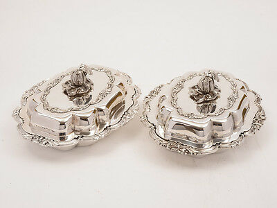 Pair of Victorian Entree Dishes, Circa 1870