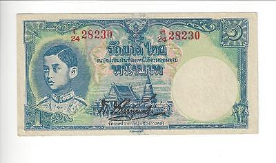 Thailand  1 Baht.  Rare Note In Unc    Nice Unc