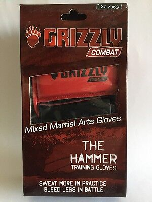 GRIZZLY COMBAT The Hammer MMA Training Gloves (Mod 8762-0432) Size XL NWT