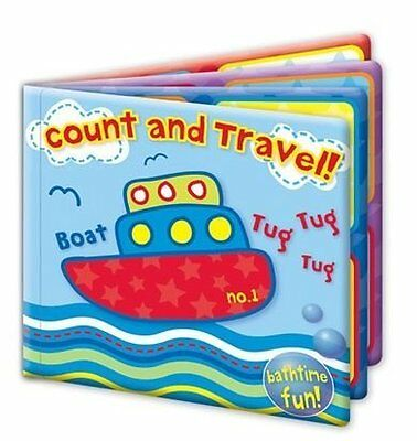 First Steps Count And Travel Educational & Fun Bath Book Toy 6 Months+
