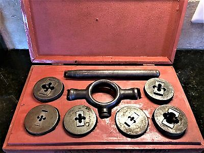 Large Antique Wells Brothers & Co. Little Giant Tap & Die Set