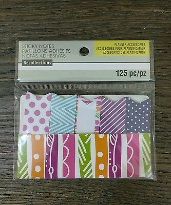 125 Piece Sticker Notes Planner Accessories Flags Study Sticky Recollections