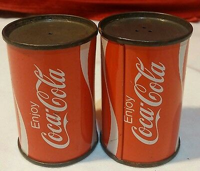 Coke Can Salt and Pepper Shakers Coca Cola