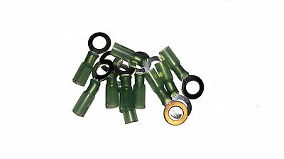 16-14 AWG 8 Stud Heat Shrink Ring Terminals - 10 Pack