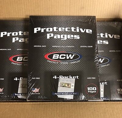 Lot of 10 Pages BCW 4-Pocket Currency Album Pages (#708)