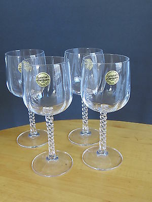 Wine Glasses By Cristal D'arques Set Of 4 Crystal Barware /  Wine Bar France