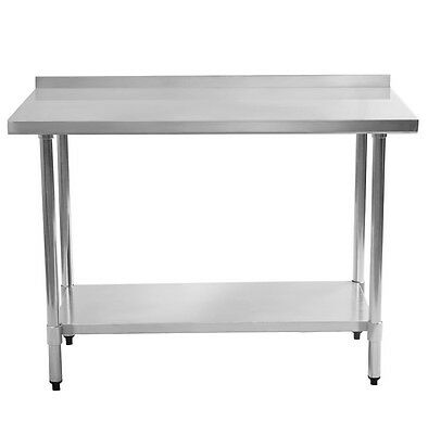 Small Kitchen Table Metal Prep Stainless Steel Bar Restaurant Heavy Duty Work