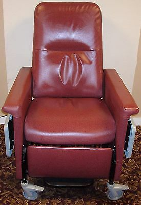Champion 54 Series Heated Red Patient Recliner Medical Dialysis Chair