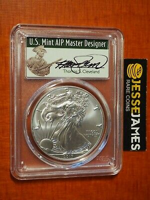 2017 Silver Eagle Pcgs Ms70 Thomas Cleveland First Strike Minuteman Label