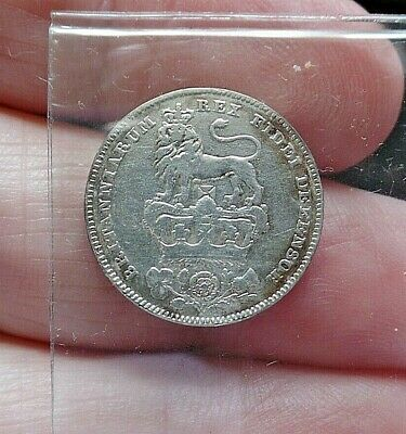 1826 King George IV Silver Sixpence High Grade