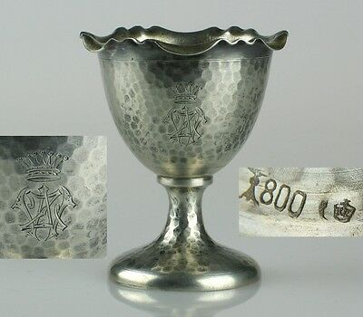 German Goblet Cup COUNT CROWN antique sterling silver Original Germany Poland