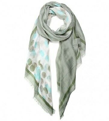 Olive and Multi Colored Dotted FASHION Scarf