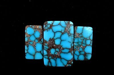 High Grade Egyptian Turquoise 3 Cabs Cabochon