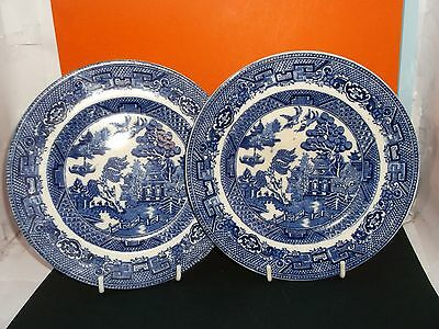 "Vintage ALLERTONS 7"" Transfer Printed Blue & White WILLOW Pattern Tea-Plate"