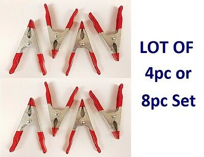 "LOT 4pc / 8pc Spring Clamp 4"" Heavy Duty Metal Nonslip Grip Woodwork Welding Set"