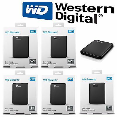 HDD Disque dur externe 2,5 Portable 1TO 2TO 3TO TB TO Western Digital WD USB 3.0