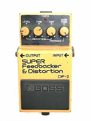 Boss DF-2, Super Feedbacker Distortion, Made In Japan, 1985, Guitar Effect Pedal
