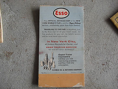 Vintage 1961 ESSO New York's World's Fair Official Foldout Map