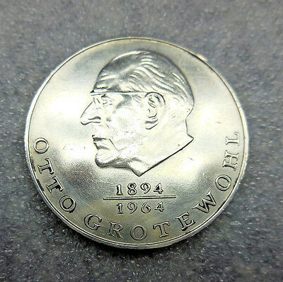 Eg339 East German Ddr 20 Mark Coin  1973 Otto Grotewohl 1894-1964