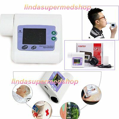 Handheld Spirometer,FVC FEV FEF Lung Check Pulmonary With PC Sotware CE Approved
