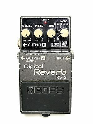 Boss RV-2, Digital Reverb, Made In Japan, 1987, FIRST YEAR PRODUCTION