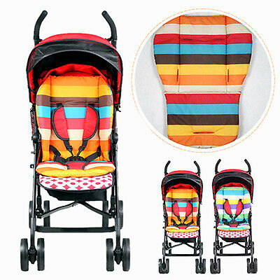 Waterproof Rainbow Baby Car Seat Liner Padding Pram Stroller Cushion Pad Preciou