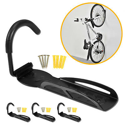 4pcs Bicycle Cycling Wall Mount Hook Hanger Rack Garage Steel Holder Stand