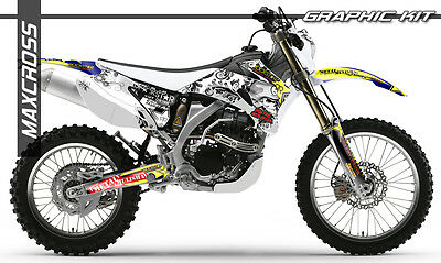 Yamaha Wr250F Wr450F Yz250F Yz450F 2006 2007 2009 Maxcross Graphics Kit Decals