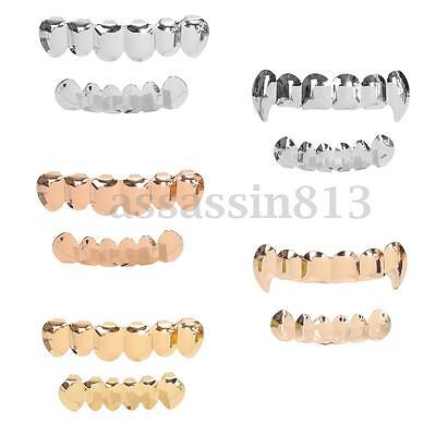 AU 18K IP Gold / Silver Plated GRILLZ Hip Hop Teeth Mouth STAINLESS STEEL Grill