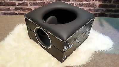 head restricted deluxe Smother box black with locks and restraint points,,
