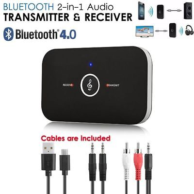 2 in 1 Bluetooth Wireless Audio Transmitter Receiver 3.5mm AUX RCA Music Adapter