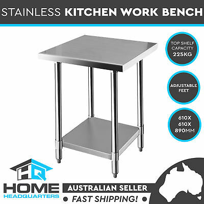 Commercial Stainless Steel Kitchen Work Bench Food Prep Table Adjustable Shelf