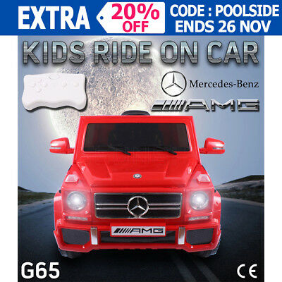 12V Kids Electric Ride on Car Licensed Mercedes-Benz AMG G65 Children Toy Remote
