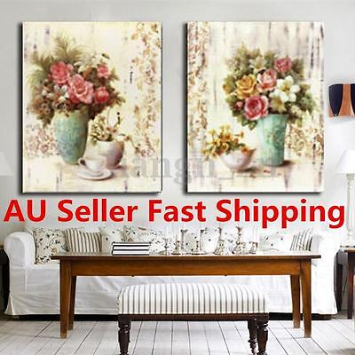 2Pcs Flower Abstract Wall Art Canvas Painting Print Picture Home Decor No Frame