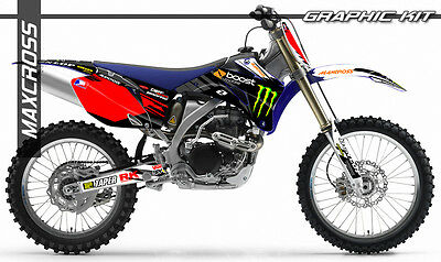 Yamaha Yz250F Yz450F Wr250F Wr450F 2006 2007 2009 Maxcross Graphics Kit Decals