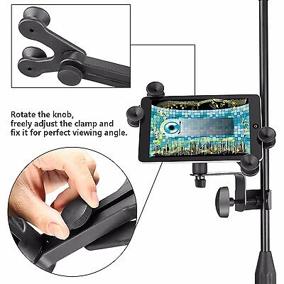 Neewer 6-11 inches Adjustable Music Mic Microphone Stand Holder for iPad Tablet