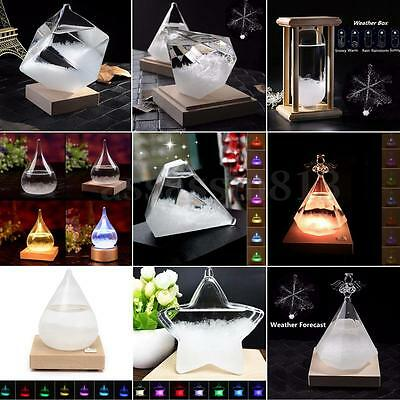 AU Weather Forecast Crystal Drop Water Shape Storm Glass Decor Christmas Gifts