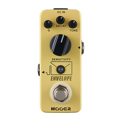 Mooer Envelope Analog Filter Auto Wah Guitar Effect Pedal Q DECAY TONE Control