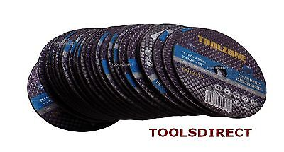 """Toolzone Pack of 25 x 3""""/75mm Cut off Discs for Stainless Steel Air Grinder"""