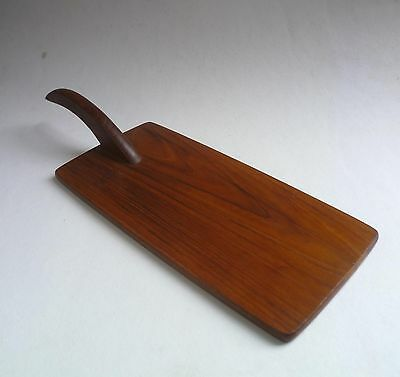 BVK Denmark Vintage TEAK CHEESE BOARD' 1950's Retro Wood Bread/Serving Tray
