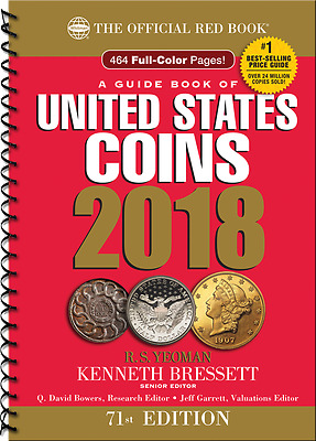 2018  Red Book ( Pre-Order, Ships On 4/10/17 ) Price Guide Of U.s.a Coins,spiral