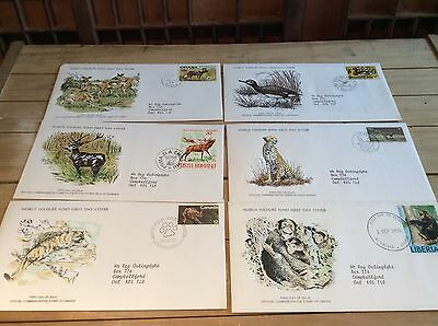 1976 World Wildlife Fund, First Day Covers