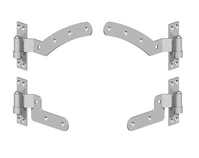 Curved Rail Gate Hinges Curve Rail Gate Hinge Set Left Hand or Right Hand Hinges