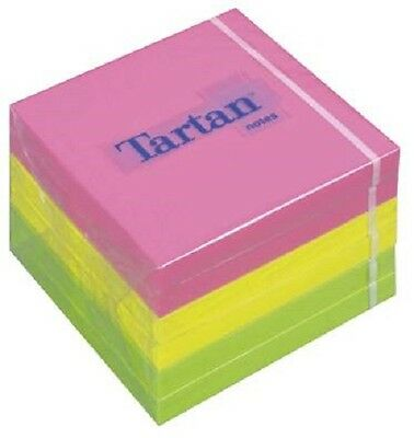 6 x 100 Haftnotizen notes Tartan 3M Klebezettel 76 x 76 mm neon bunt